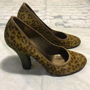 Nicole Miller Cheetah Print Heels